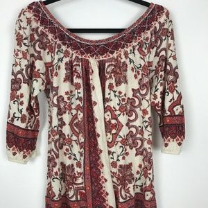 Lucky Brand Womens Boho Blouse Top Size M